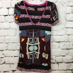Custo Barcelona eclectic tunic length top!